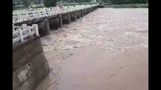 Huge Water Flow In Kinnerasani Dam Due To Heavy Rains | Khammam