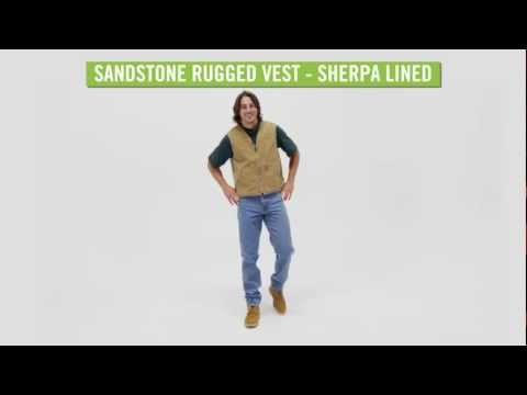 Video: Men's Sandstone Rugged Vest - Sherpa Lined