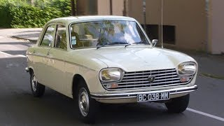 Peugeot 204 on the road! First front wheel drive of Peugeot!!