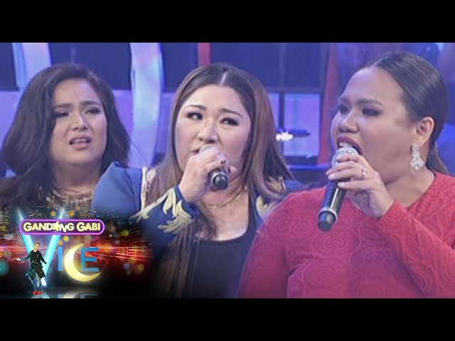 GGV: Vice Ganda challenges Frenchie, Radha, and Bituin to a sing-off.