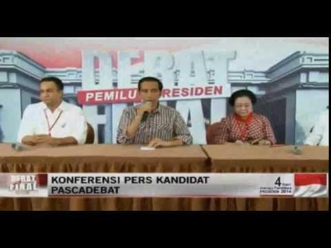 Konferensi Pers Jokowi Jk Usai Debat Capres 5 Juli 2014