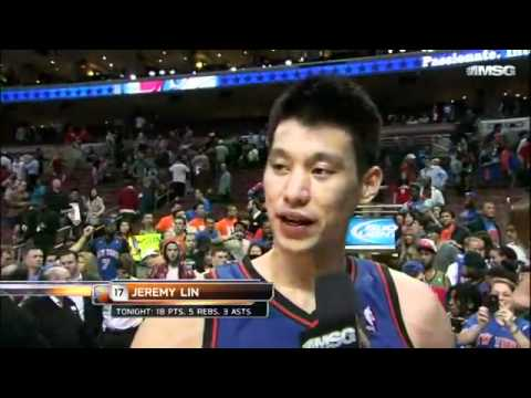 Jeremy Lin: Post Game Interview - Knicks vs Philadelphia 76ers 3.21.2012