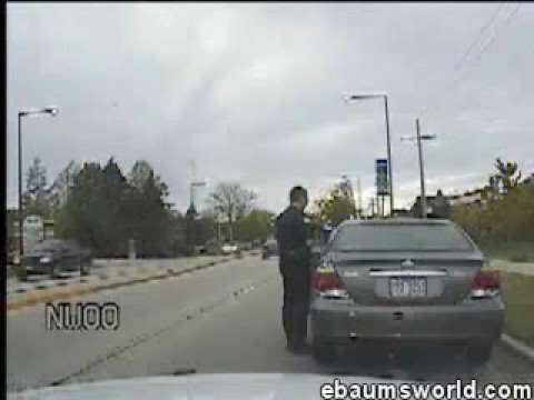 Disrespectful cop gets a hood-full