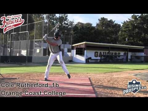 Cole Rutherford Prospect Video, 1b, Orange Coast College