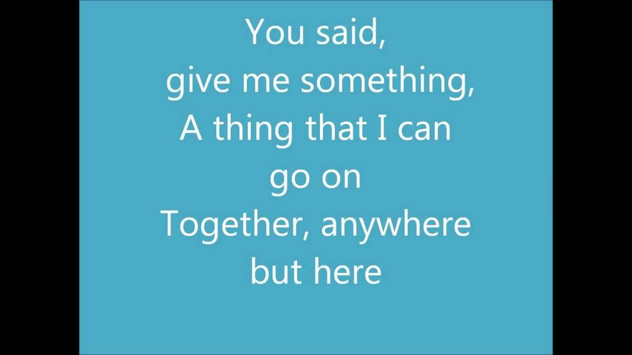 Lyrics to stutter
