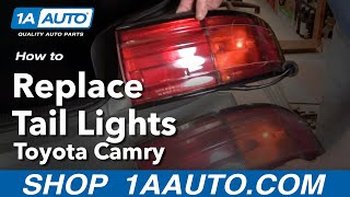 How To Install Replace Taillight Taillamp Toyota Camry 92-94 1AAuto.com