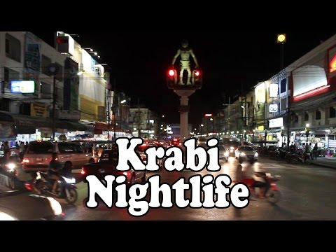Krabi Nightlife: Krabi Town Thailand by Night: Night Markets. Bars. Restaurants & Street Food.