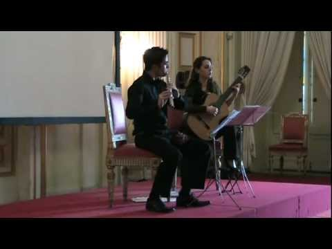 Federico Vallerga flauto - Molino, Duo n°3 per flauto e chitarra, 1° mov.