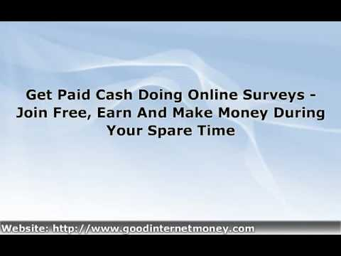 Earn Money For Taking Survey - Get Paid With Free Surveys Online ...