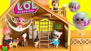 LOL Surprise Dolls Log Cabin Vacation House