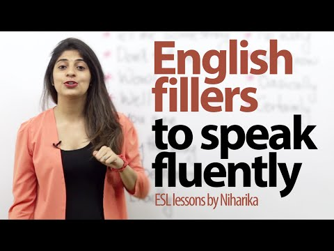 English Fillers To Speak Fluently. ( Gap Fillers) - Free English Lessons video