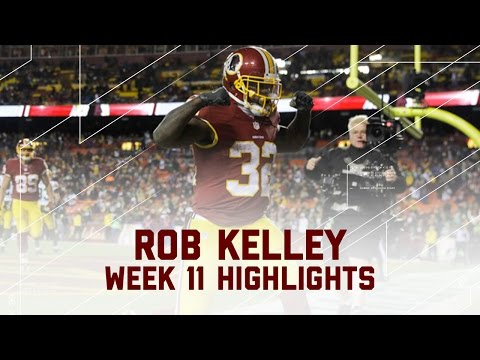 Rob Kelley's 3-TD Performance! | Packers vs. Redskins | NFL Week 11 Player Highlights