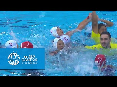 Waterpolo Women's Thailand vs Singapore | 3rd Quarter Highlights | 28th SEA Games Singapore 2015