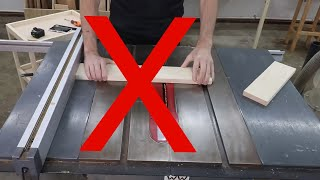 Your first table saw:  A step-by-step guide to making your first cuts. Woodworking BASICS.