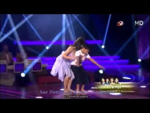 Bianca Marroquín bailando Cosmic Love con Erick PG2