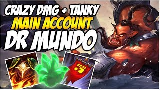 MUNDO IS CRAZY, TANKY + DAMAGE - Climb to Master S8 | League of Legends