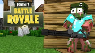 Monster School : Fortnite Battle Royale Challenge - Minecraft Animation