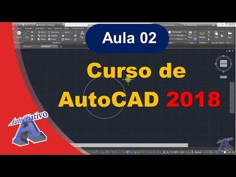 Curso de AutoCAD 2018 - Aula 02/45 - Interface do AutoCAD Parte 1 - Autocriativo