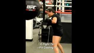 Pro Female MMA Fighter trains with KewlFit Cooling Vest - YouTube