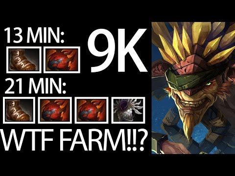 WTF is That Farm 2x Heart In 21 Min 9K MMR Dota Gameplay by Matumba + GH