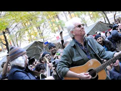 OCCUPY WALL STREET PROTEST  ZUCCOTTI PARK DAVID CROSBY AND NASH