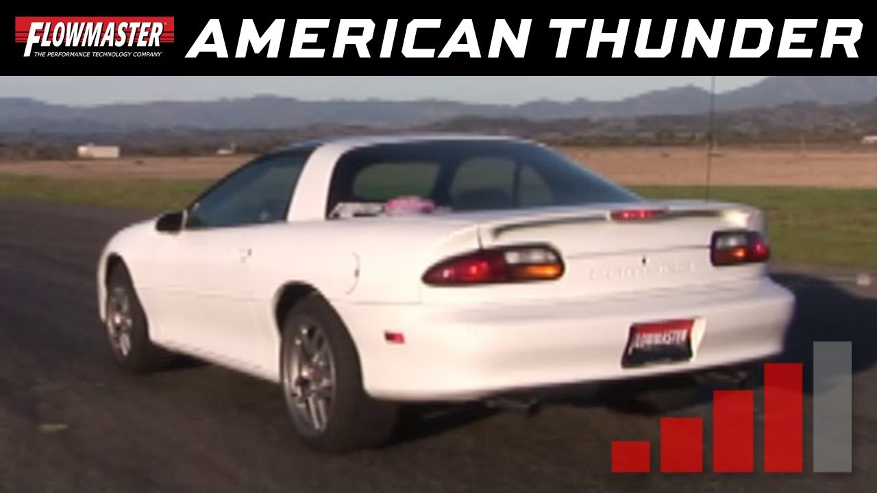 2001 Chevy Camaro V6 With Flowmaster Exhaust 17358 817358
