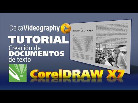 TUTORIAL 7 CorelDRAW para principiantes: CÓMO CREAR DOCUMENTOS DE TEXTO