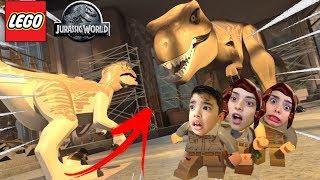 FOMOS SALVOS PELO TIRANOSSAURO REX !!! #4 (Lego Jurassic World) - we were saved by tyrannosaurus rex