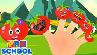Томатный палец семья | развивающий мультфильм | дошкольные видео | детские песни