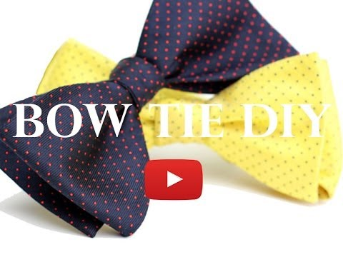 DIY Bow Tie Project - How to Make a Bow Tie - YouTube