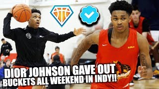 Dior Johnson Was GIVING OUT BUCKETS ALL WEEKEND!! | #1 PG Makes DEBUT with LeBron's 15u Squad
