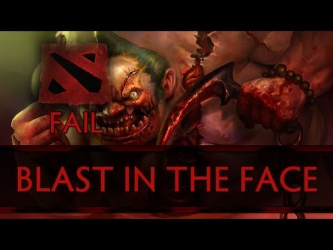 Dota 2 Fail - SUNSfan Gets Blasted in the Face