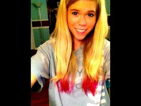 Dip Dying My Hair PINK!