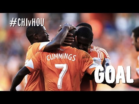 GOAL: Omar Cumming's glancing header gives the Dynamo the lead | Chicago Fire  vs. Houston Dynamo