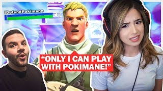 Pokimane meets her CRAZIEST Fan?! Fortnite Duos ft. CouRageJD!