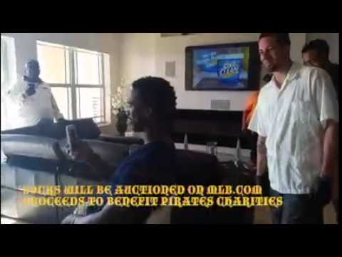Andrew McCutchen Cuts Signature Locks For Charity (Low-Res)