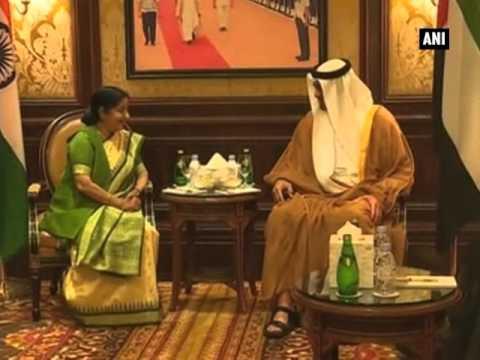 Sushma calls on Abu Dhabi crown prince