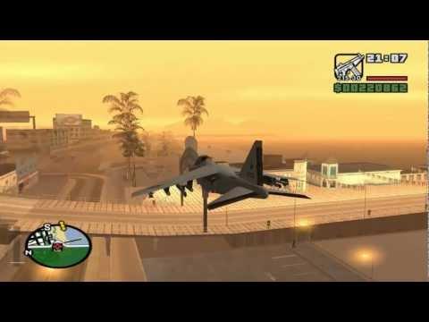 Como Pilotar um Jato (Hydra) e uma Helicóptero (Hunter) no GTA San Andreas