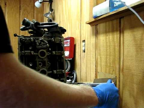 Removing valve springs from a 4g63 cylinder head.