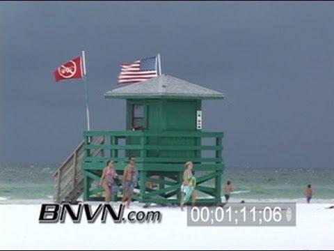 8/7/2005 Siesta Beach Rain Video