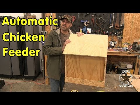 DIY-Chicken coop gravity feeder - Automatic chicken feeder
