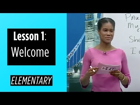 Elementary Levels - Lesson 1: Welcome
