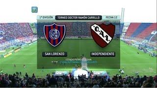 Fútbol en vivo. San Lorenzo - Independiente. Fecha 12. Torneo Primera División 2014.FPT.