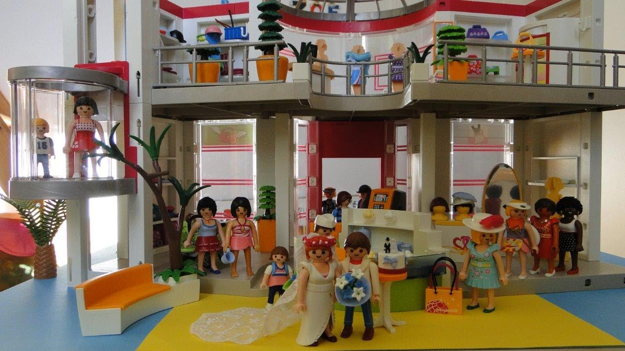 playmobil grand magasin 5485 shopping center city life youtube. Black Bedroom Furniture Sets. Home Design Ideas