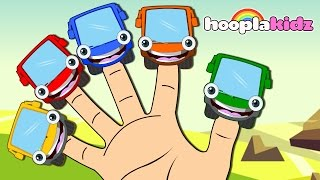 Learn Colors with Wheels on the Bus Finger Family Song | Nursery Rhymes Collection by HooplaKidz