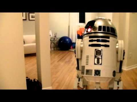 R2D2 reacts to thunder...