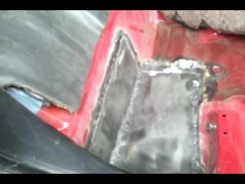 1985 Honda Crx Si Rust Repair Floor Pan Youtube