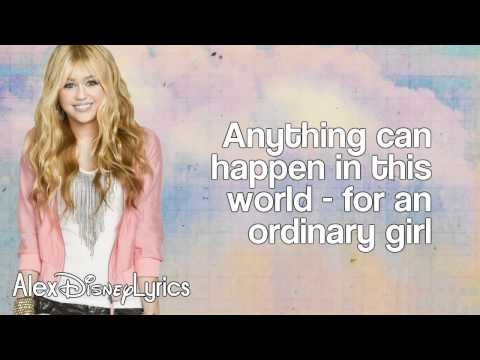 Hannah Montana - Ordinary Girl (lyrics On Screen) Hd
