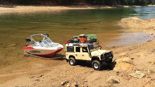 **RC Boat Launch**Defender 110/Master Craft XStar***Tybo's RC Motorsports** Pure RC 4x4