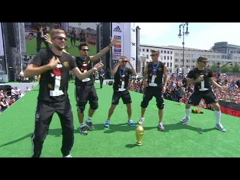 German football team celebrates World Cup victory - no comment